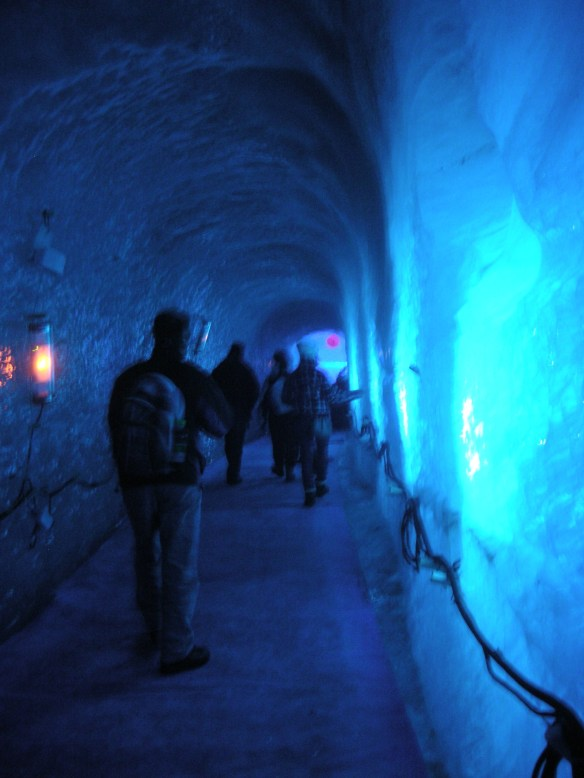 Inside the ice grotto, Mer de Glace