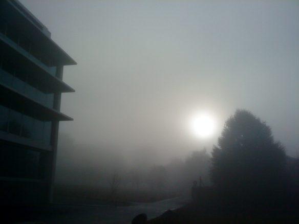 Misty morning in Lausanne