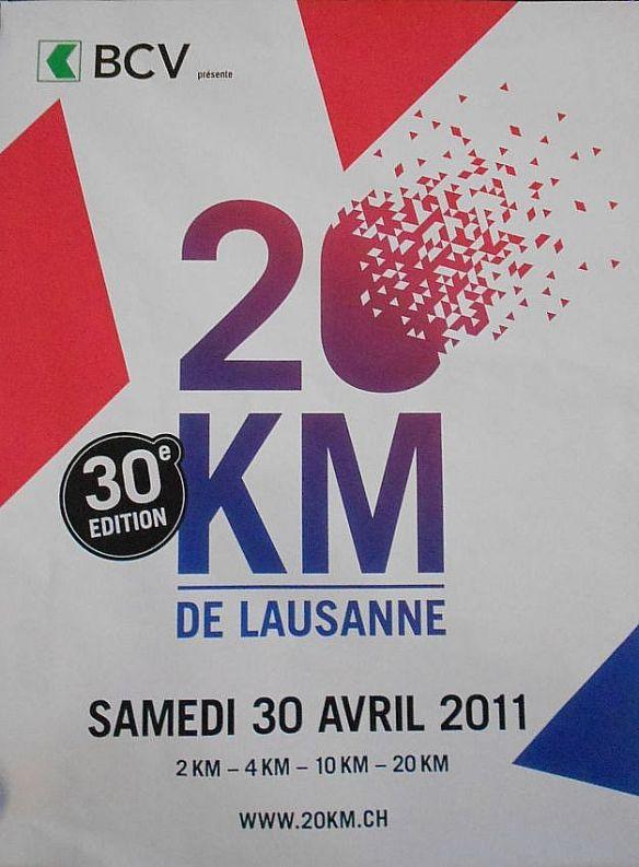 30th edition of 20km de Lausanne, 30 April 2011