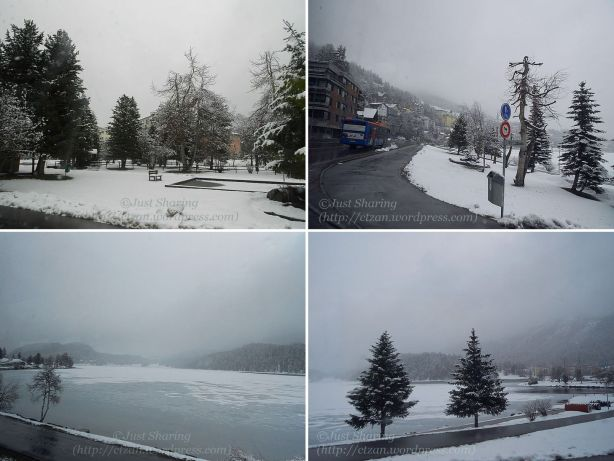 St Moritz near the lake, 15 April 2012
