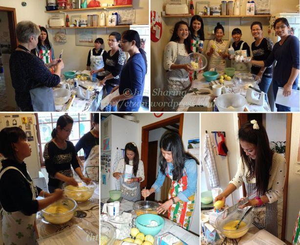 Lemon cake baking class