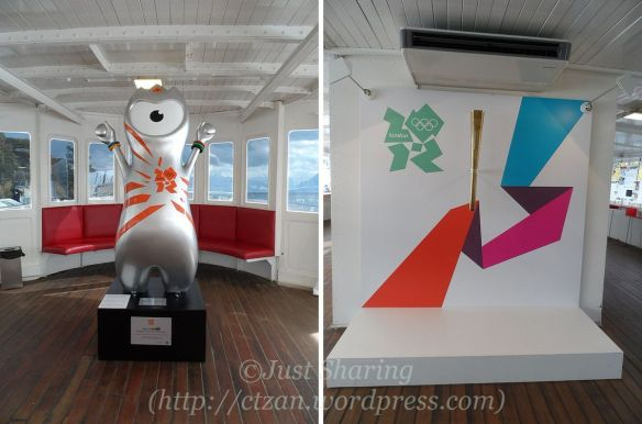 Mascot and torch during London Olympic